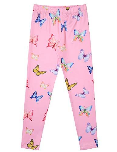 Cute Butterfly Leggings Girl Full Length Tights Trousers Blu