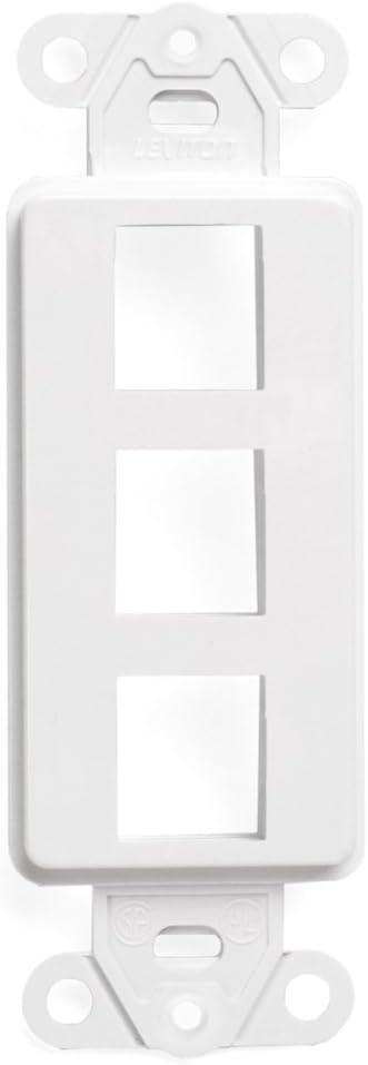 Leviton 41643-W QuickPort Decora Insert, 3-Port, White