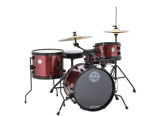 Ludwig LC178X025 Questlove Pocket Kit 4-Piece Drum Set-Red Wine Sparkle Finish, inch ( ()