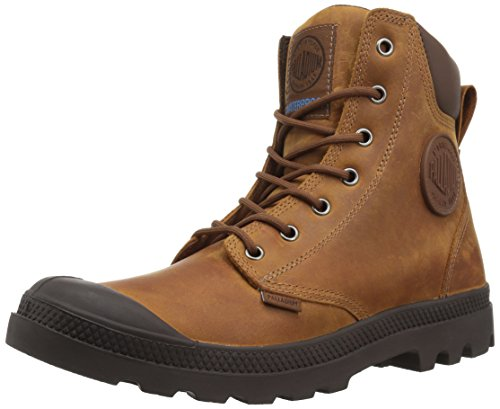 Palladium Boots Pampa Cuff Wp Lux, Color: Sunrise/Carafe, Size: 10.5 (73231-733-M-10H)