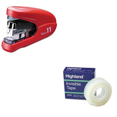 KITMMM6200341296MXBHD11FLKRD - Value Kit - Max USA Corp Flat Clinch Light Effort Stapler (MXBHD11FLKRD) and Highland Invisible Permanent Mending Tape (MMM6200341296) by Max USA Corp
