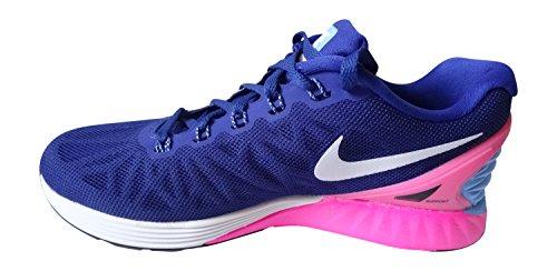 Nike Wmns Lunarglide 6 - Zapatillas de running Mujer Deep Royal-Blue/White/Hyper-Pink