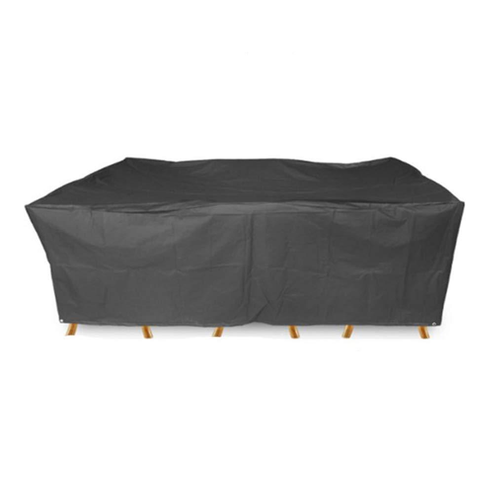 ZEMIN ターポリンタープ 庭園 家具 カバー 椅子 フード 細心の シェルター ターポリン 防水 防塵 210D オックスフォード布、 カスタマイズ可能、 11サイズ (色 : 黒, サイズ さいず : 270x180x89cm) 270x180x89cm 黒 B07PXDL87M