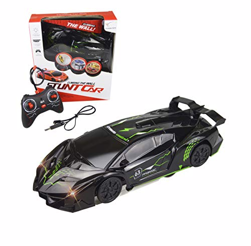 FIGROL Wall Climbing Car,Climbing Rc Cars 360° Rotating Stunt Vehicle,with Remote Control, LED Head Gravity,Rechargeable for Kid,Girfts