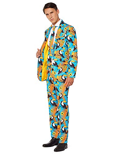 OFFSTREAM Halloween Suits for Men - Costumes Include Jacket Pants and Tie]()