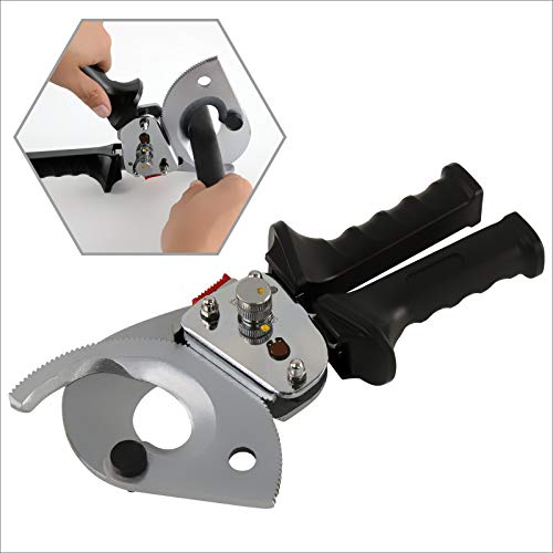 IBOSAD Ratchet Cable Wire Cutter up to 600 mcm Aluminum Copper Ratcheting Wire Cutting Hand Tool
