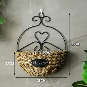 Gotian Living Room Hanging Bouquet Indoor Decoration Wall Hanging Flower Basket Suitable for Room Decoration Suitable for Succulents Air Plants Mini Cactus Fake Plants 56