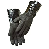 G & F Products BBQ Gloves Grill Gloves Insulated waterproof, oil & heat resistant BBQ, Smoker, Grill, and Cooking Gloves. Professional barbecue & grilling -1 pair (14 Inch)