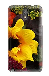 Best High Quality Shock Absorbing Case For Galaxy Note 3-fall Flowers