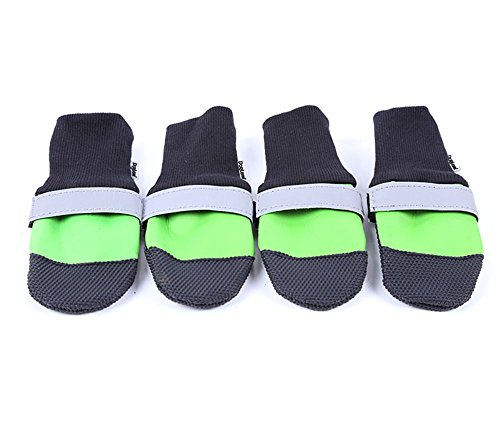 Dog Waterproof Non-slip Shoes Comfortable Boots Fashion Durable Reflective Stripe Dog¡¯s Paws Protector Shoes by DogLemi