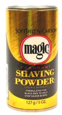 Magic Gold Shaving Powder 4.5 oz. Fragrant (3-Pack) with Free Nail File