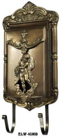 - Victorian Angel Cupid Motif Brass Mail Box (ZLW-40MB)