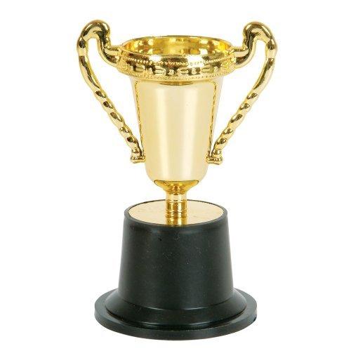 Rhode Island Novelty 5 Inch Plastic Gold Trophy | 12 Pack |