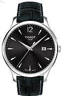 Tissot Black Dial Stainless Steel Leather Quartz Men's Watch T0636101608700