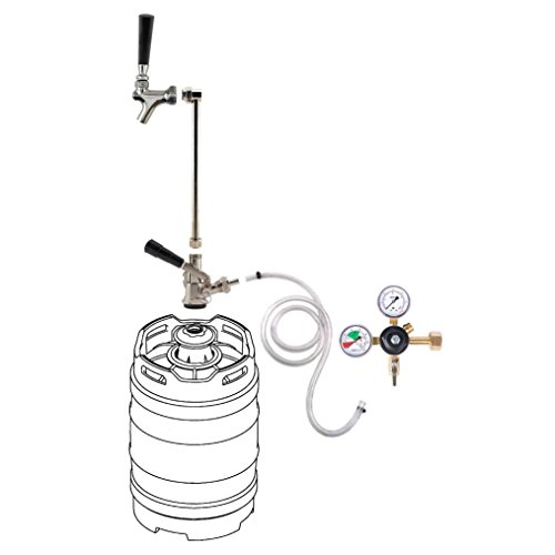 Compact Portable Draft Beer Kegerator System w/out CO2 Tank ()