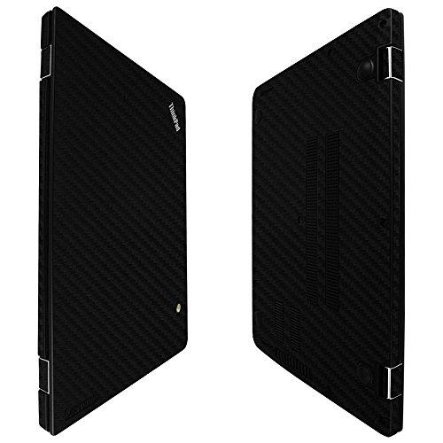 Skinomi Black Carbon Fiber Full Body Skin Compatible with Lenovo Thinkpad 13 Chromebook (Full Coverage) TechSkin Anti-Bubble Clear Film