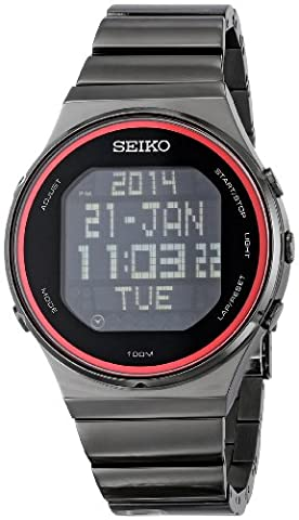 Seiko Men's STP013 Digital Display Japanese Quartz Silver Watch (Digital Watch Men Seiko)