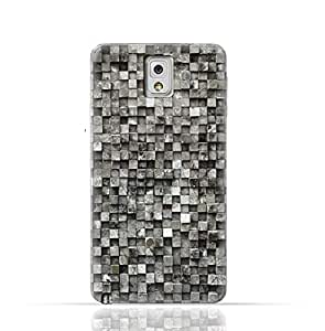 Samsung Galaxy Note 3 TPU Silicone Case with Old Cube Black Wood Texture