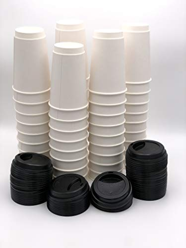 - (50 ct) 16oz Double Wall Coffee/Hot Beverage Cups With Lids