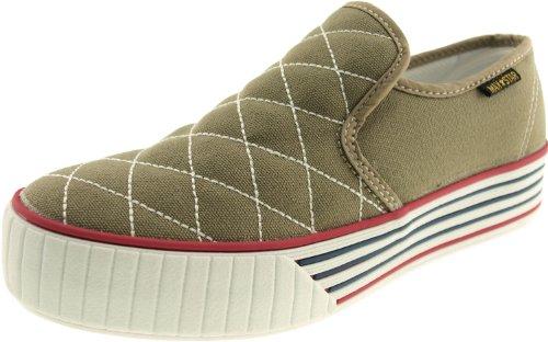 Maxstar C30 Low-Top Stitch Slip-Ons Sneakers Shoes Khaki 1zI45xx2X