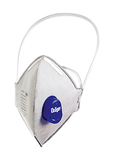 Dräger X-plore 1750 N95 Particulate Respirator with Exhalation Valve, 15 Pack, NIOSH-Certified, Folded, Disposable Dust Mask, Low Breathing Resistance