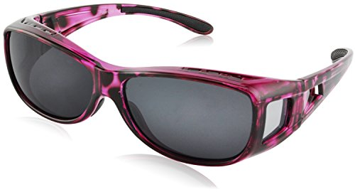 TINHAO Fit Over Sunglasses for Women - Polarized Fitover Sunglasses with 100% UV Protection for Driving,Fishing,Cycling,Running and Golf with Purple - Glasses Fit Over Sunglasses Which