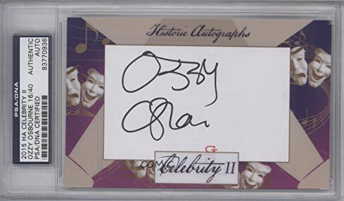 Ozzy Osbourne PSA/DNA Certified Auto AUTHENTICATED AUTHENTIC #16/40 (Trading Card) 2015 Historic Autographs Celebrity II - [Base] #OZOS from Historic Autographs Celebrity II