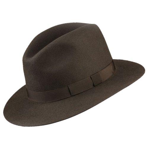 583f2ee7 Olney Crushable Pure Fur Felt Fedora Hat (Medium (56-57cm), Olive