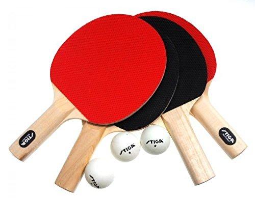 Stiga Classic 4-Player Table Tennis Racket Set New