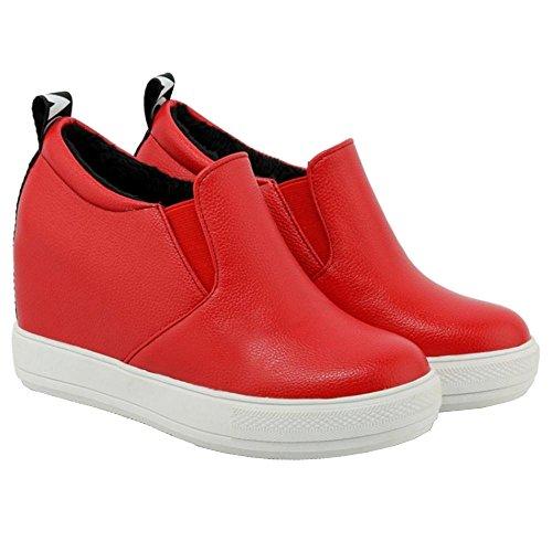 2 rouge talon Coolcept pour à Chaussures femmes compensé xnzFwvpq0