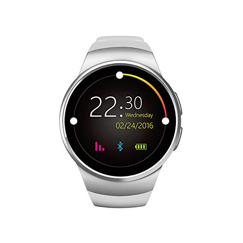Xiaojun Smart Watch, Round IP68 Waterproof Fitness Tracker Sport Watch with Heart Rate Sleep and Chick, for iOS/Android,Silver (Ios Ui Best Practices)
