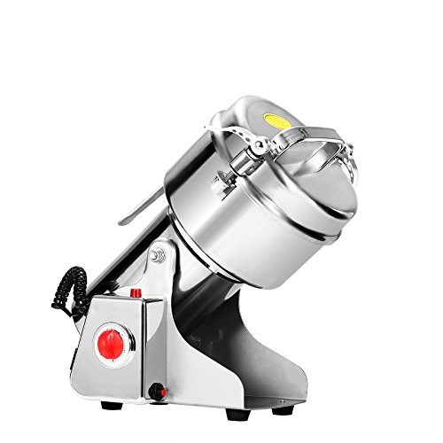 Happybuy Grain Grinder 500g Mill Powder Machine Swing Type Commercial Electric Grain Mill Grinder for Herb Pulverizer Food Grade Stainless Steel (500g) (Electric Mill Corn compare prices)