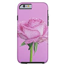 Phone Covers for Iphone 5S/SE Case, Pink Rose With Rain Drops Tough There Phone Case for Iphone5S/SE Case