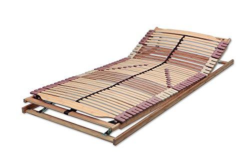 Malie A6150000002 Panda Superflex XXL Lattenrost mit Kopf und Fußteilverstellung, Bambuskorpus, 90 x 200 cm