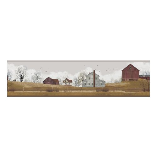 York Wallcoverings YC3395BD Welcome Home Rural Route Border (Primitive Wallpaper Border)