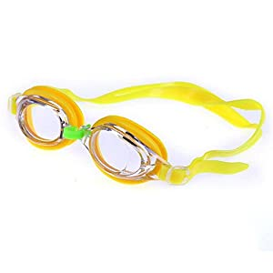izasky Kids Swim Goggles 5 Colors - Baby Swimming Goggles Silicone Cartoon Children Waterproof Swim Pool Water Glasses Eyewear Eyeglasses Accessories For Boys Girls (Yellow)