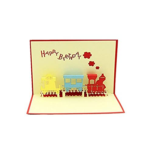 Kids birthday cards amazon isharecards handmade 3d pop up childrens birthday cards for kids train bookmarktalkfo Gallery