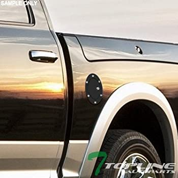 Topline Autopart Matte Black Aluminum Gas Door Cover With Lock For 09-14 Ford F150