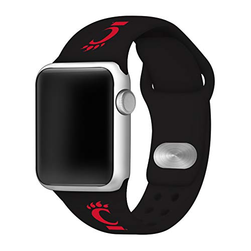 Affinity Bands Cincinnati Bearcats Silicone Sport Band Compatible with Apple Watch - 42mm BLK