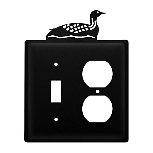 Iron Loon Switch, Outlet Cover - Black ()