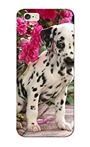Inthebeauty New Arrival Iphone 6 Plus Case Dog Puppy Flowers Dalmatian Case Cover/ Perfect Design