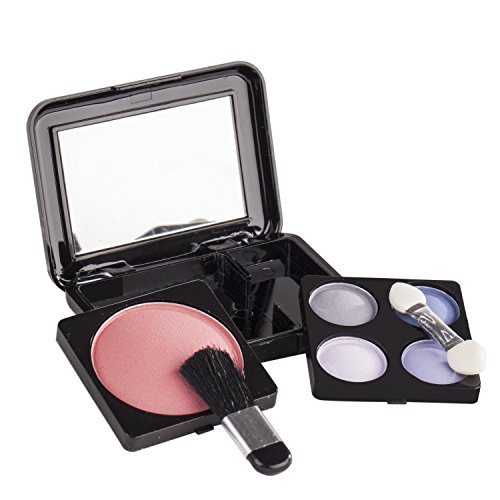 Maúve Professional Makeup Kit - Eyeshadow,Pedicure,manicure With Black Trim Clear Case MU10