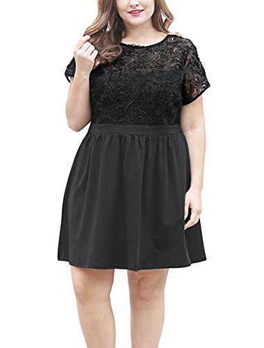 Buy black lace dress by laundry - 5
