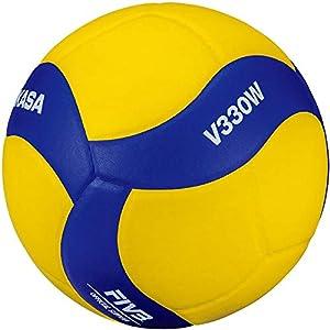 MIKASA Pallone Volley Allenamento V330W, Unisex Adulto, Blu/Giallo, 5 41loMgmSY4L. SS300