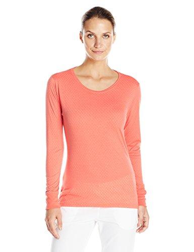 Carhartt Women's Long Sleeve Burnout Jersey Tee, Coral, M...