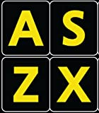 English US Large Letters Black - Yellow Letters