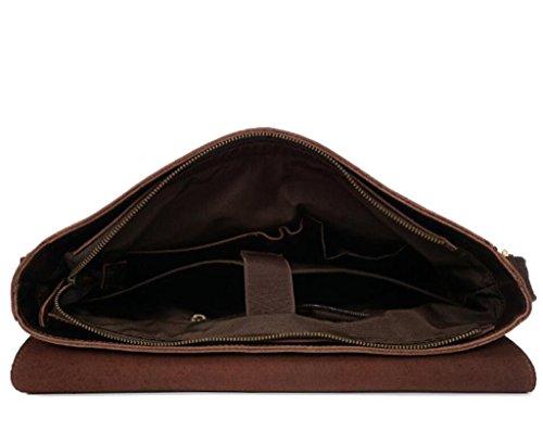 SHFANG Vintage Umhängetasche / Männer Leder Umhängetasche, tragbare langlebige, täglichen Bedarfs