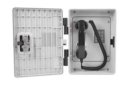 Weatherproof Phone w/Dial Pad - Analog - Non-Metallic Housing - Noise Canceling - 6' Handset Cord