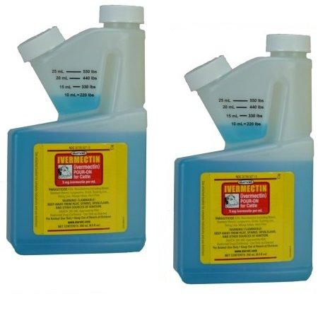 Durvet Ivermectin Pour On Dewormer 250mL 2 Pack by Durvet