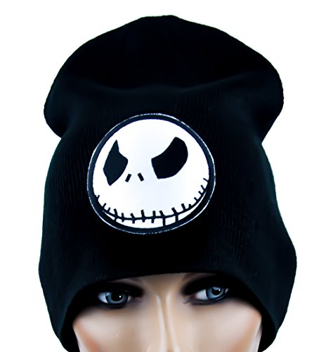 Evil Grin Jack Skellington Beanie Knit Cap Goth